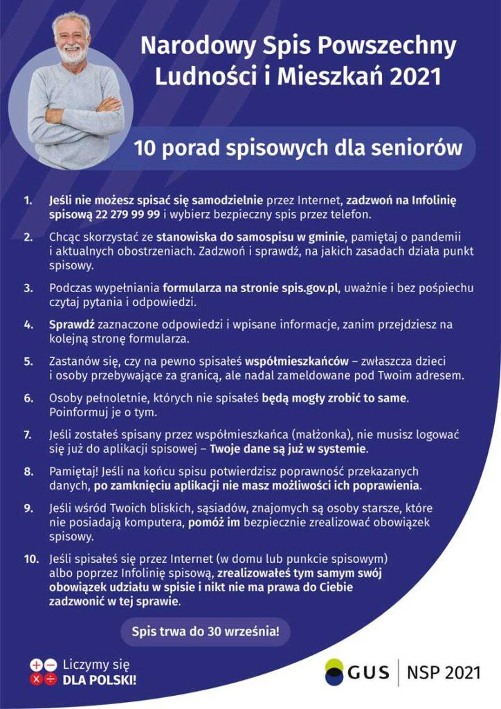 Plakat - porady dla seniora