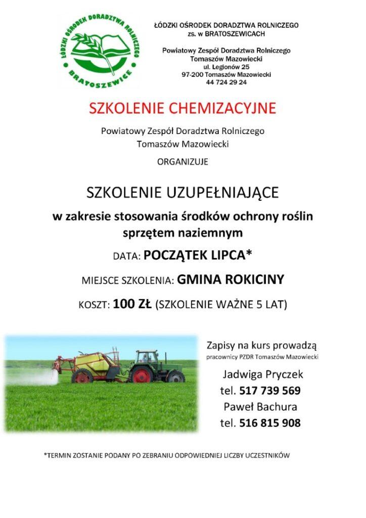 Plakat szkolenie chem
